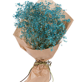 파란안개꽃다발 p930