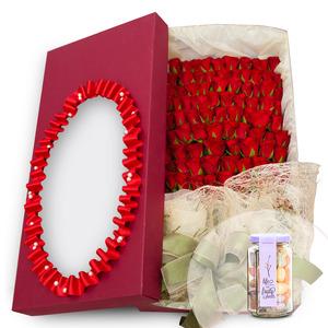 100송이꽃상자+사탕 117